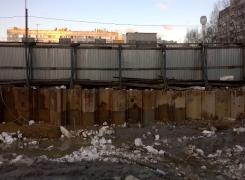 Монтаж шпунтового ограждения на Байконурской