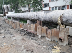 Погружение шпунтовых свай с лидерным бурением на объекте по адресу: ул. Есенина.