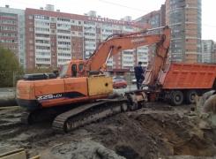 Монтаж шпунтового ограждения, ул. Гаккелевская