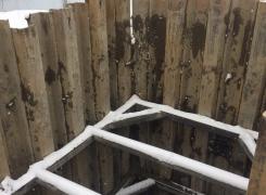 Шпунтовое ограждения котлована глубиной 12 м