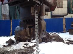 Погружение и извлечение металлического шпунта на объекте ж/д станция Репино