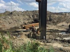 Шпунтовое ограждение на объекте в Пулково