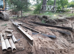 Демонтаж шпунтового ограждения на объекте «Санаторно-курортное учреждение» г. Сестрорецк