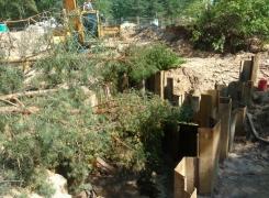 Завершили монтаж шпунтового ограждения на объекте «Санаторно-курортное учреждение» г. Сестрорецк