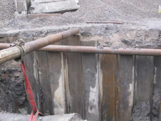 укрепление шпунтовых стенок